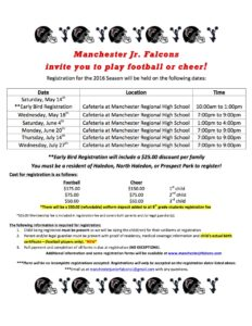 2016 registration flyer